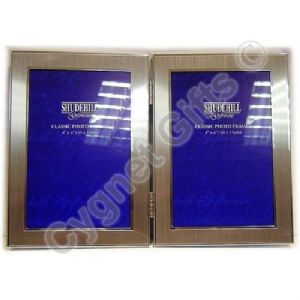 Silver Colour Double Photo Frame - Two Photos 6 x 4 inches